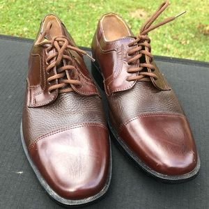 Giorgio Brutini Brown Leather Oxfords 7D Lace Up